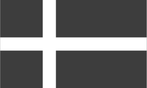 Denmark flag black and white