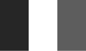 French flag in black and white