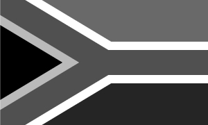 South African flag - black and white