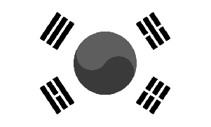 south-korea-flag-bw