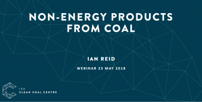 Non-energy products from coal