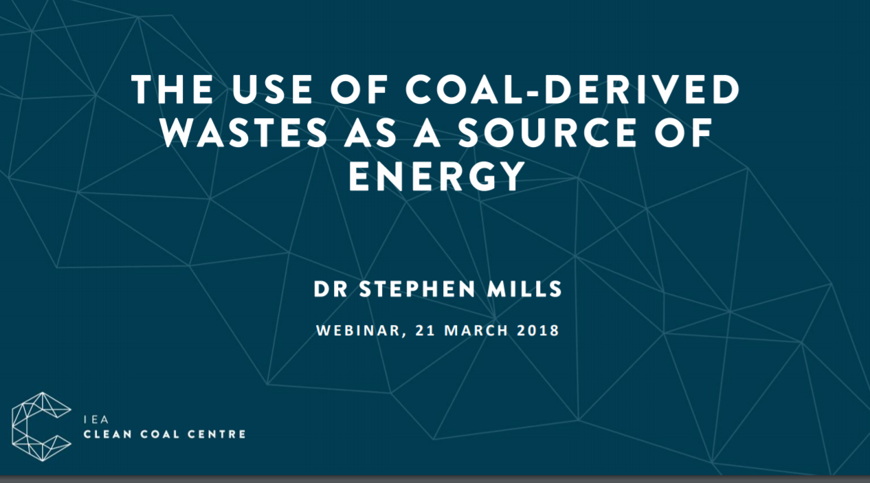 The use of coal-derived wastes as a source of energy